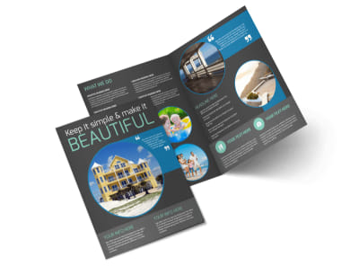 Vacation Rentals Bi-Fold Brochure Template