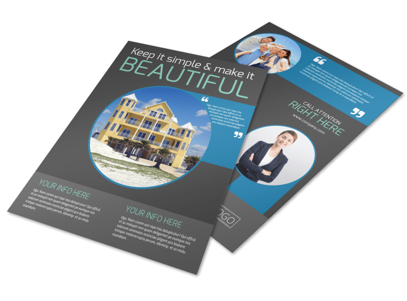 Vacation Rentals Flyer Template Preview 1