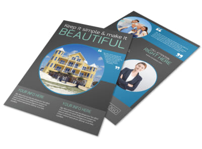 Vacation Rentals Flyer Template preview