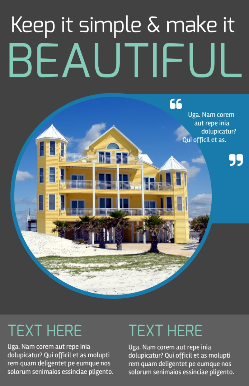 Vacation Rentals Flyer Template Preview 2