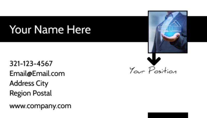 elite real estate team business card template