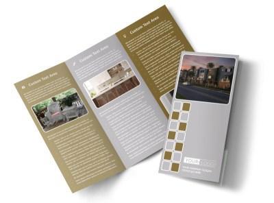 Apartment Complex Tri-Fold Brochure Template