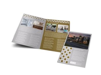 Apartment Complex Bi-Fold Brochure Template