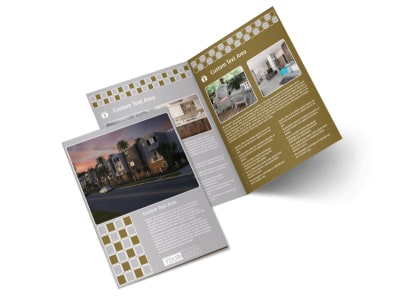Apartment Complex Bi-Fold Brochure Template