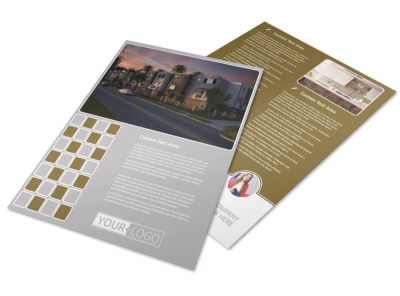 Apartment Complex Flyer Template