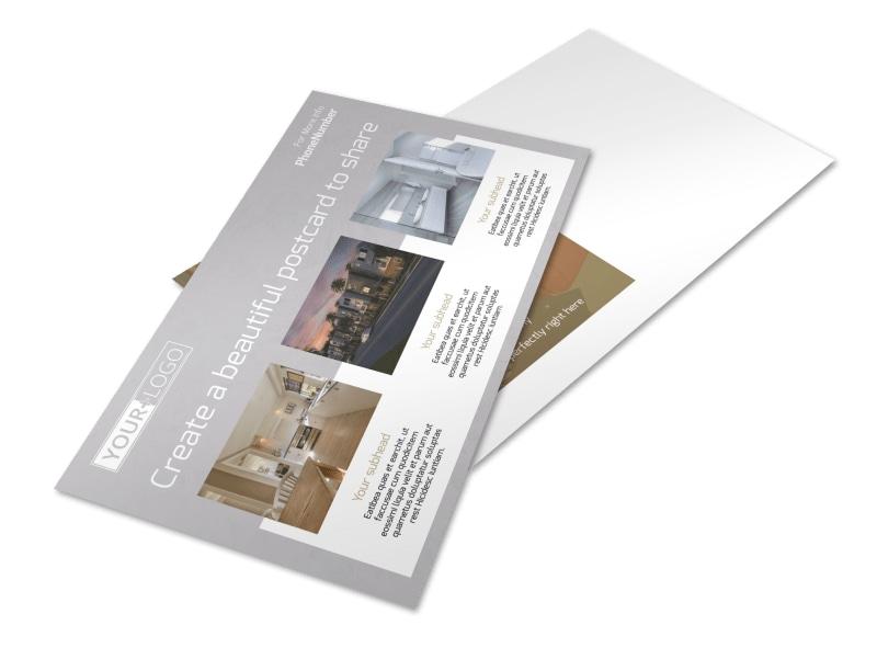 Apartment Complex Postcard Template