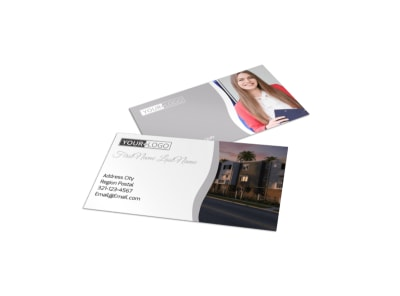 Apartment Complex Business Card Template preview
