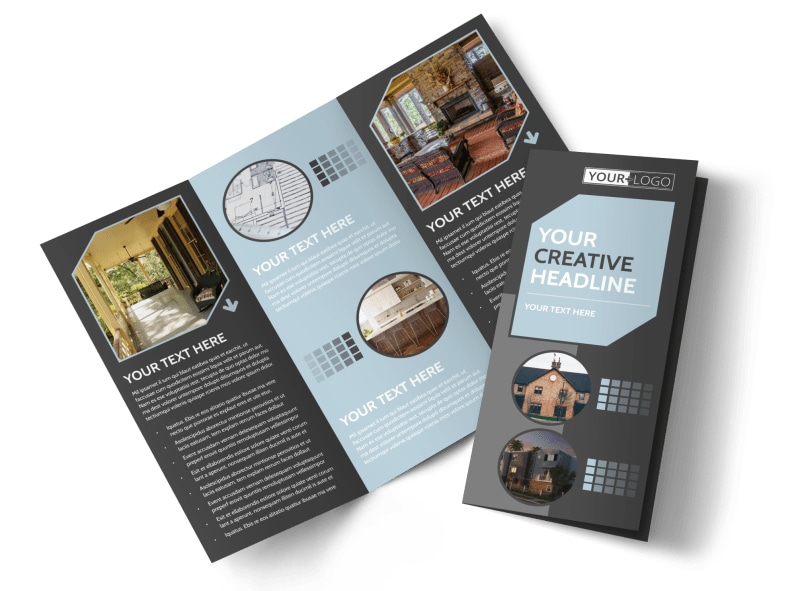 Townhome Rentals Tri-Fold Brochure Template