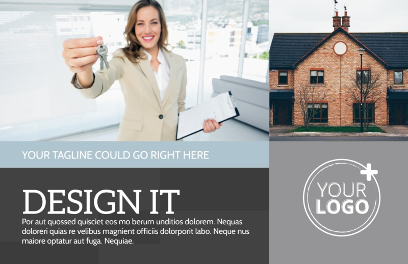 Townhome Rentals Postcard Template Preview 2