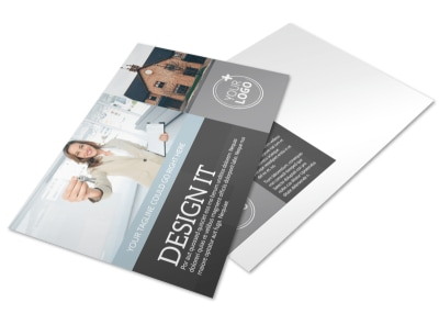 Townhome Rentals Postcard Template preview