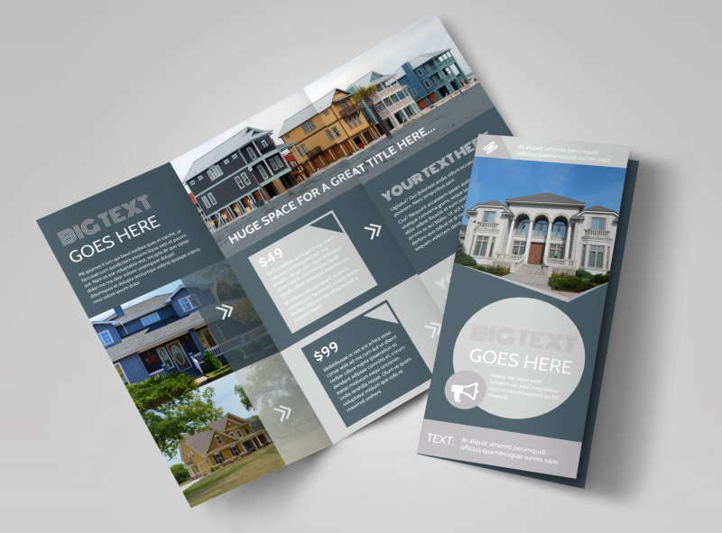 Property Management Specialists Tri-Fold Brochure Template