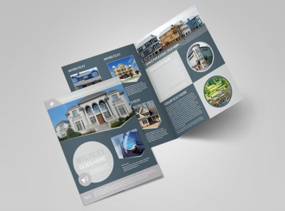 Property Management Specialists Bi-Fold Brochure Template preview