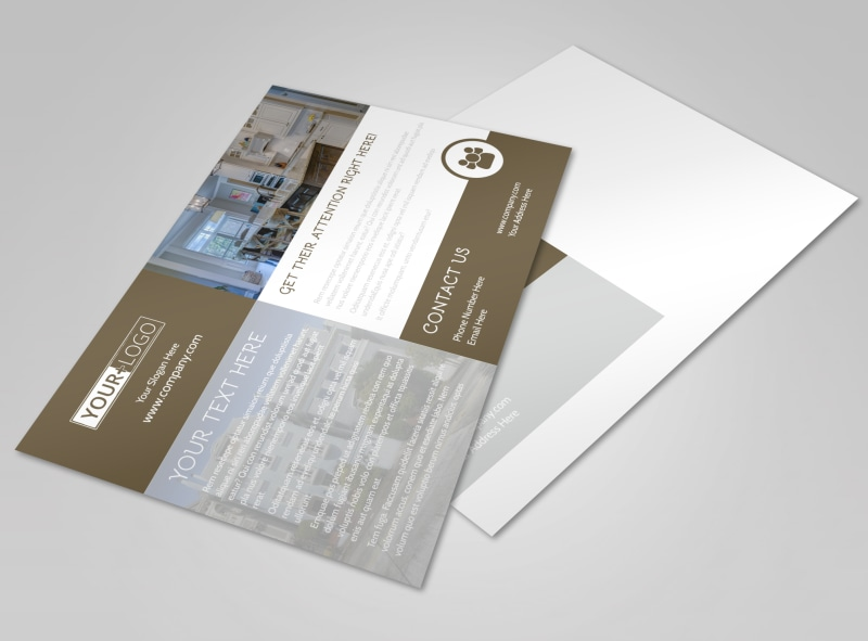 Modern Townhome Rentals Postcard Template Preview 4