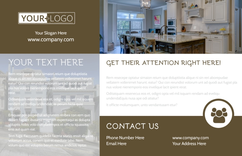 Modern Townhome Rentals Postcard Template Preview 2