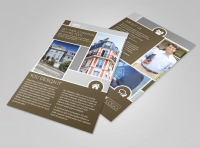 Modern Townhome Rentals Flyer Template