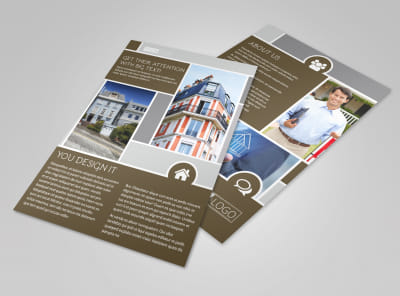 Modern Townhome Rentals Flyer Template preview