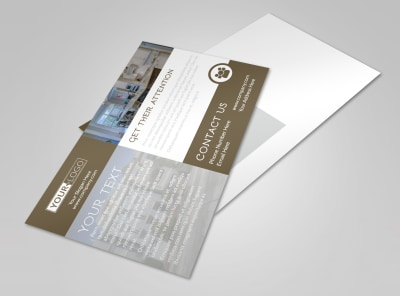 Modern Townhome Rentals Postcard Template preview