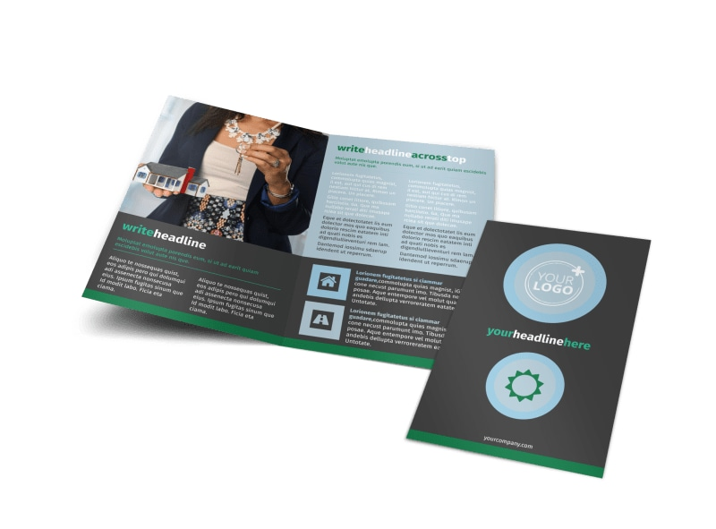 Good Real Estate Agent Bi-Fold Brochure Template