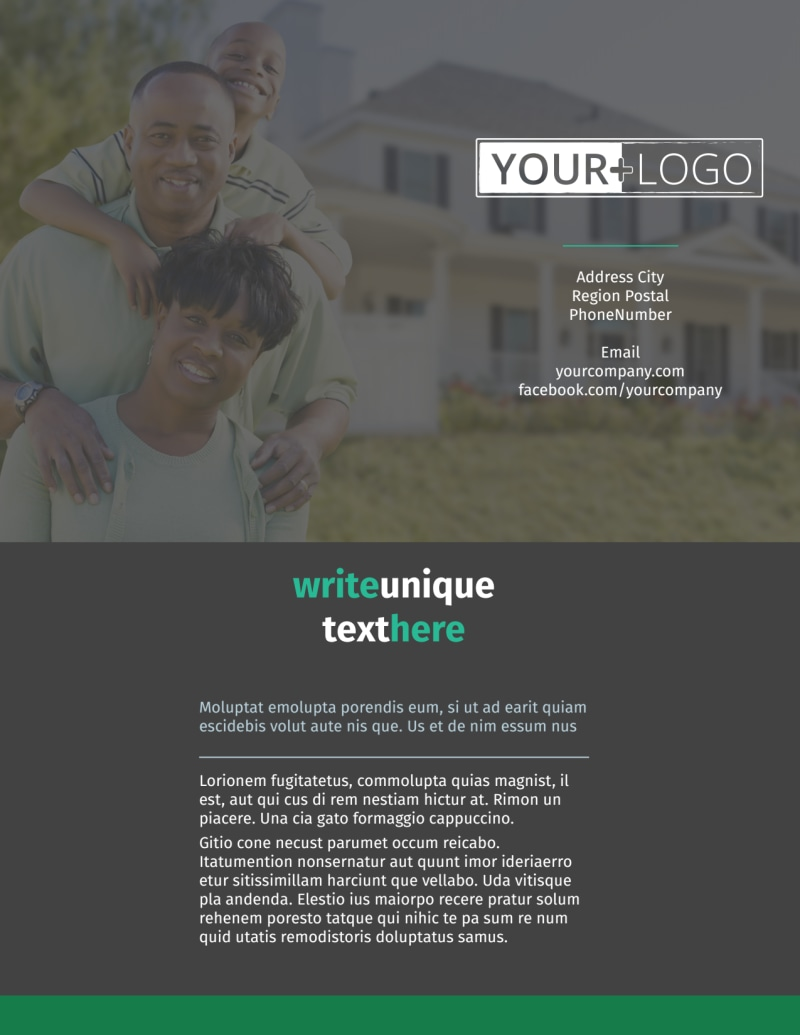 Good Real Estate Agent Flyer Template Preview 2