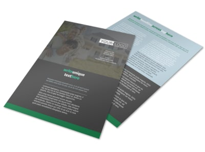 Good Real Estate Agent Flyer Template