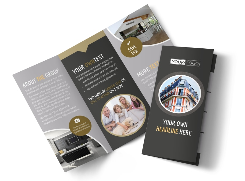 Family Friendly Apartments Tri-Fold Brochure Template