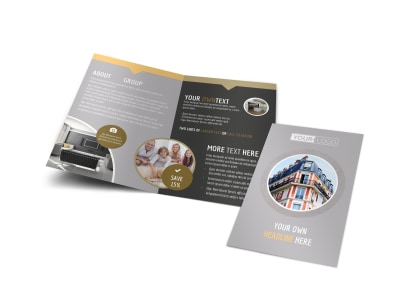 Family Friendly Apartments Bi-Fold Brochure Template