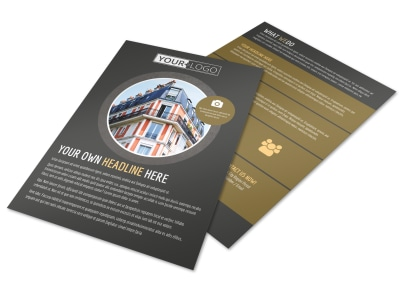 Family Friendly Apartments Flyer Template preview