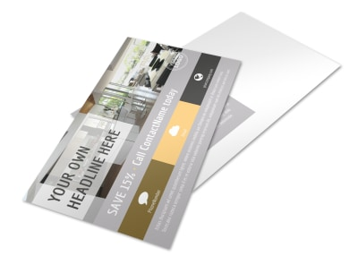 Family Friendly Apartments Postcard Template preview