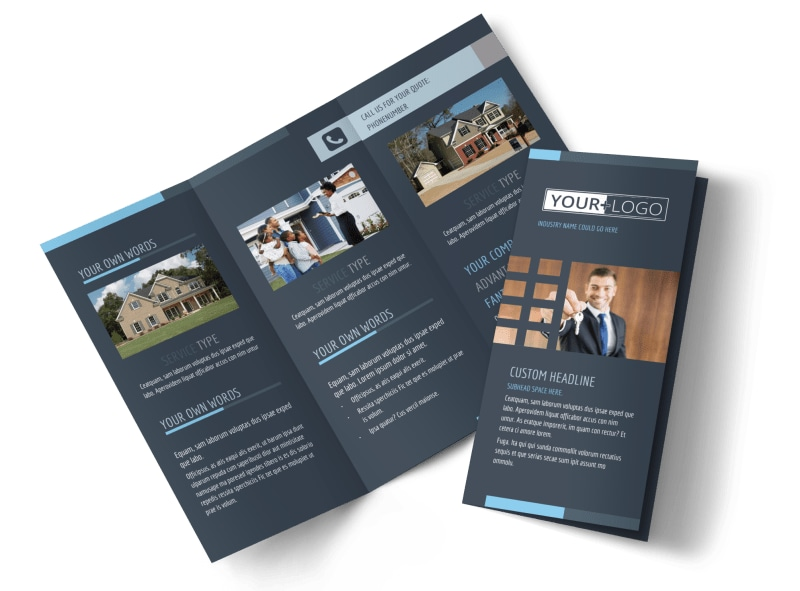 Your Next Real Estate Agent Tri-Fold Brochure Template