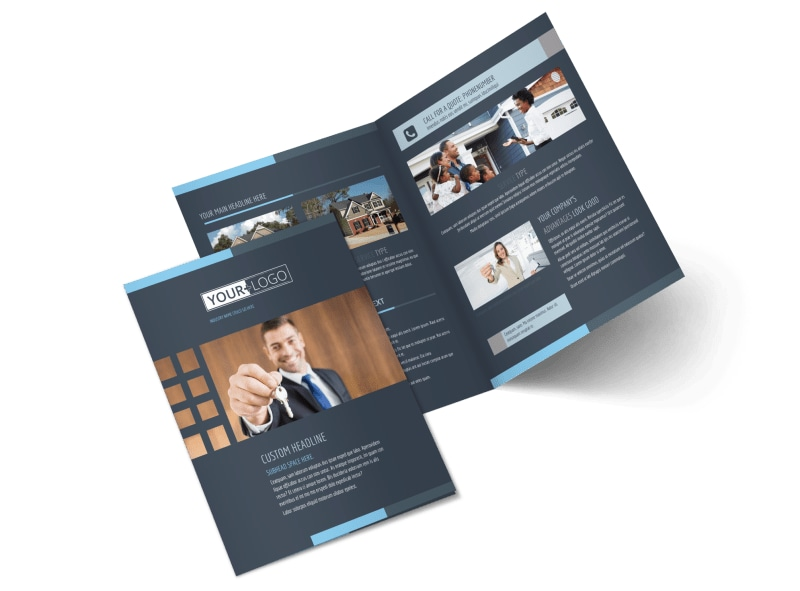 Your Next Real Estate Agent Bi-Fold Brochure Template