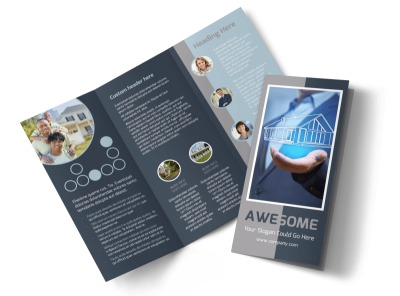 Real Estate Sales Experts Tri-Fold Brochure Template