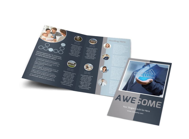 Real Estate Sales Experts Bi-Fold Brochure Template