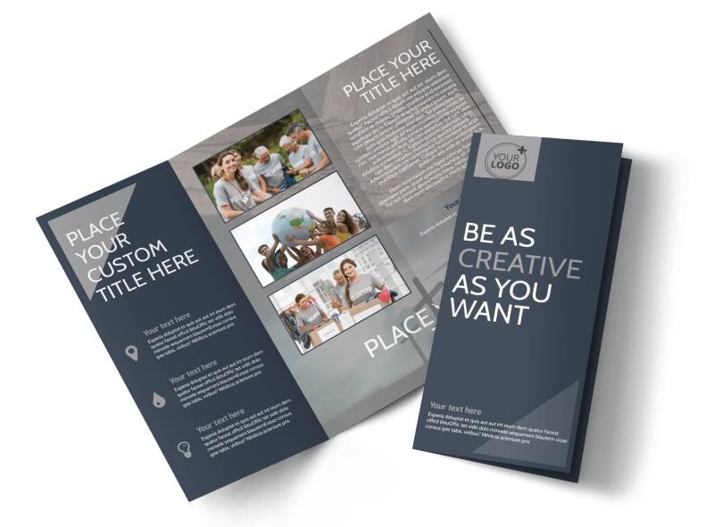 Church Outreach Program Tri-Fold Brochure Template