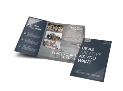 Church Outreach Program Bi-Fold Brochure Template
