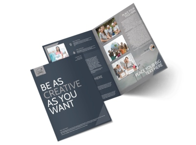 Church Outreach Program Bi-Fold Brochure Template preview