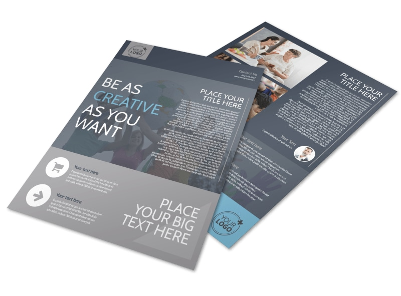 church outreach program flyer template mycreativeshop