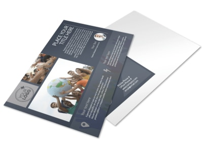 Church Outreach Program Postcard Template