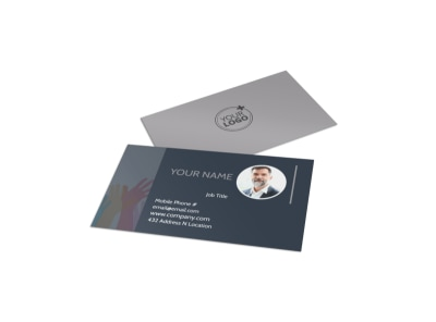 Church Outreach Program Business Card Template preview