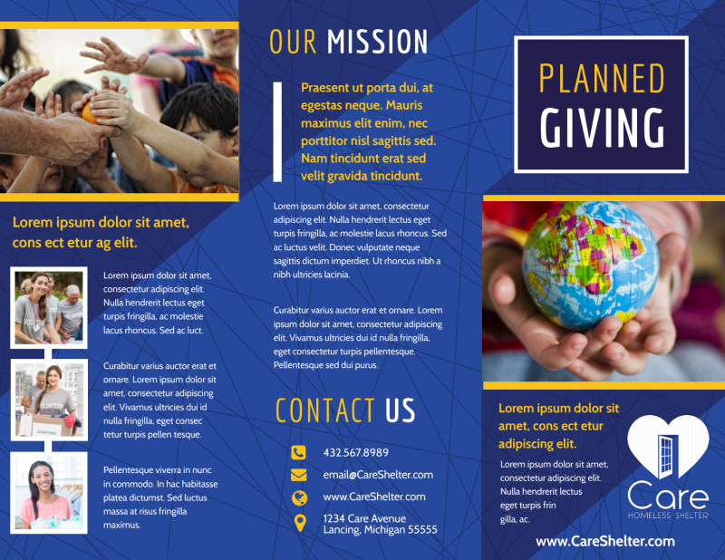 Charity Fundraiser Brochure Template Preview 2