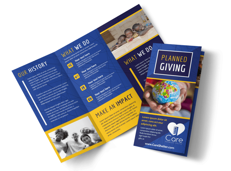 charity fundraiser brochure template