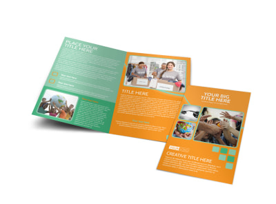 Charity Fundraiser Bi-Fold Brochure Template preview