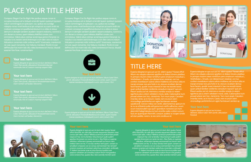 Charity Fundraiser Brochure Template Preview 3