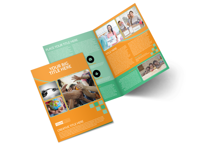 Charity Fundraiser Brochure Template Preview 1