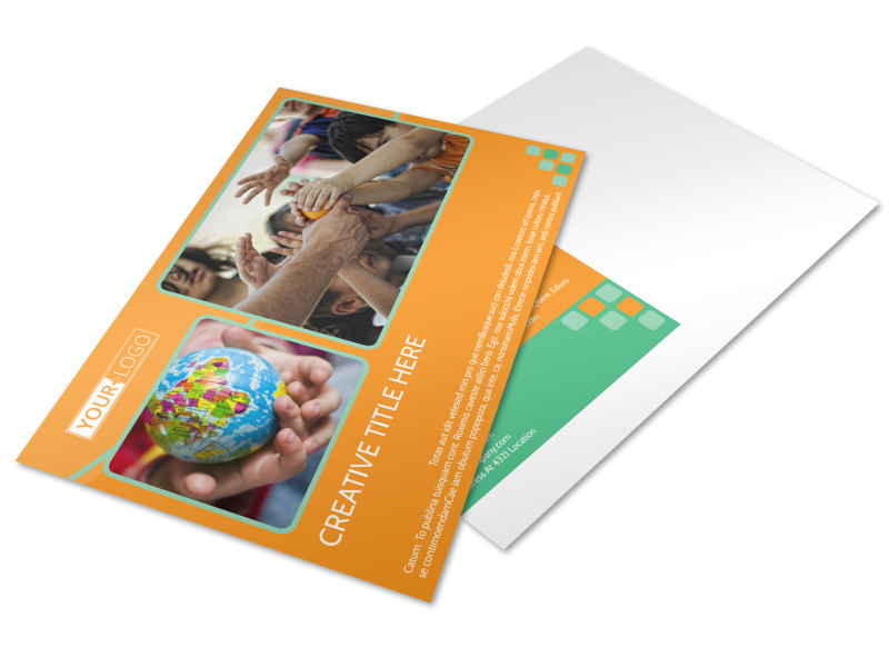 Charity Fundraiser Postcard Template