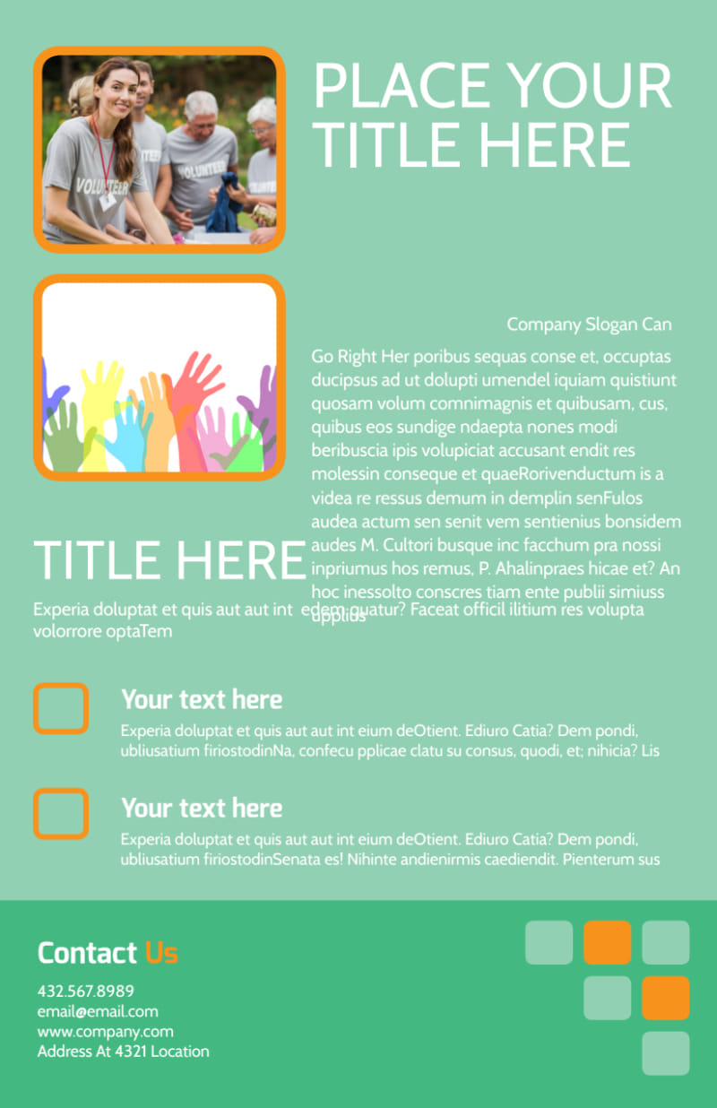 Charity Fundraiser Flyer Template Preview 3