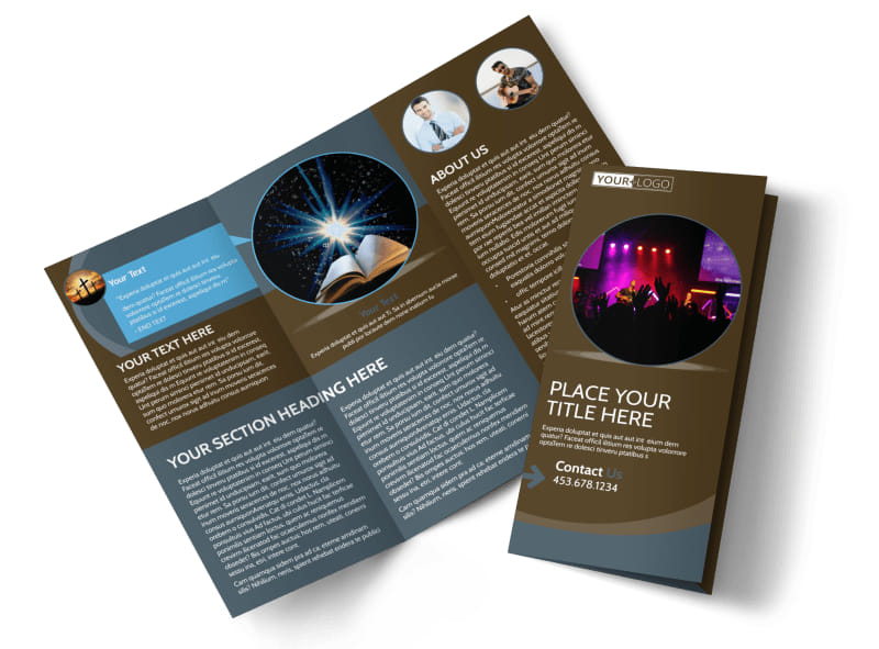 christian events conferences brochure template
