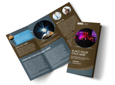 Christian Events & Conferences Tri-Fold Brochure Template preview