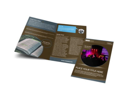 Christian Events & Conferences Bi-Fold Brochure Template