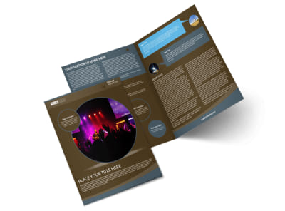 Christian Events & Conferences Bi-Fold Brochure Template preview
