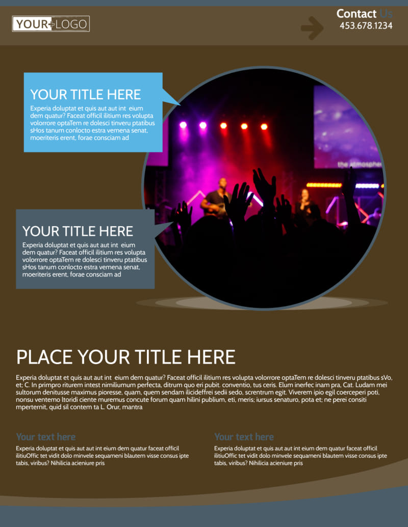 Christian Events & Conferences Flyer Template Preview 2